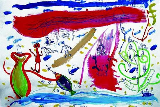 福島県相馬市の子どもが東日本大震災直後に描いた絵